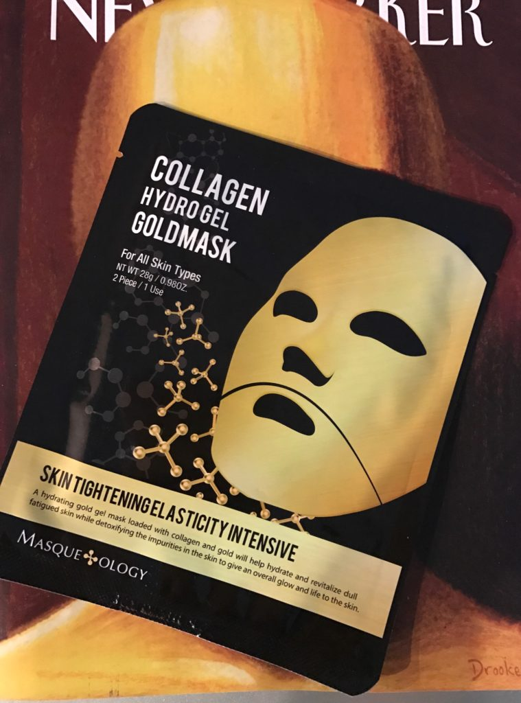 Masqueology Collagen Hydrolyzed Goldmask on Oscars New Yorker cover, neversaydiebeauty.com