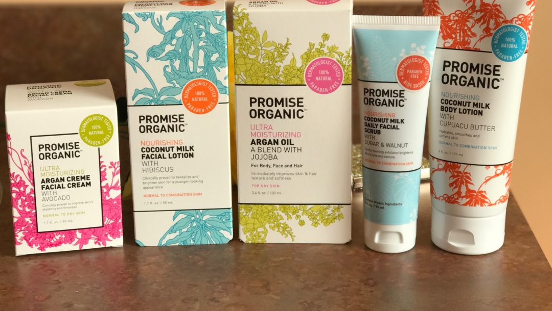 Promise Organic skincare products, neversaydiebeauty.com