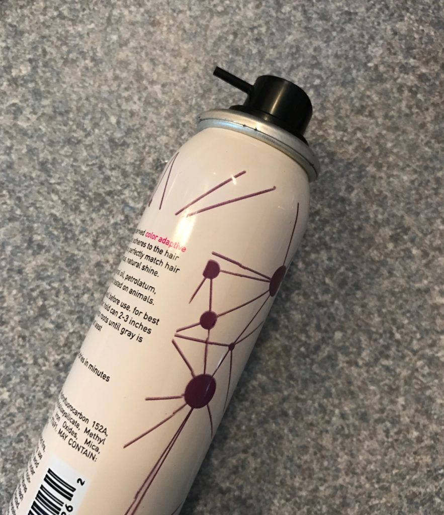 spray nozzle of Style Edit root concealer spray bottle, neversaydiebeauty.com