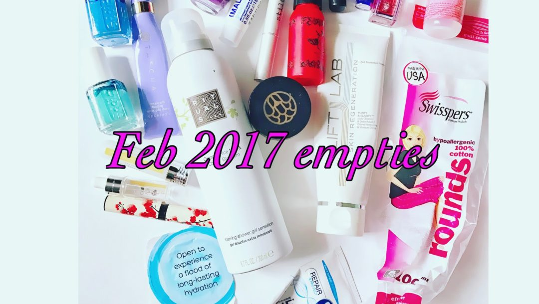 beauty product empties, February 2017, neversaydiebeauty.com