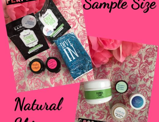 Perfectly Posh and Good Earth Beauty natural skincare samples, neversaydiebeauty.com