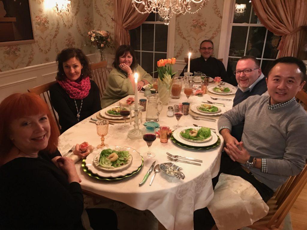 dinner party 3/2017, neversaydiebeauty.com