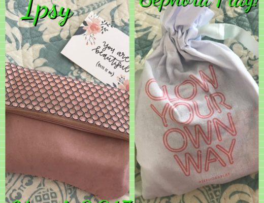 ipsy and Sephora Play bags for March 2017, neversaydiebeauty.com