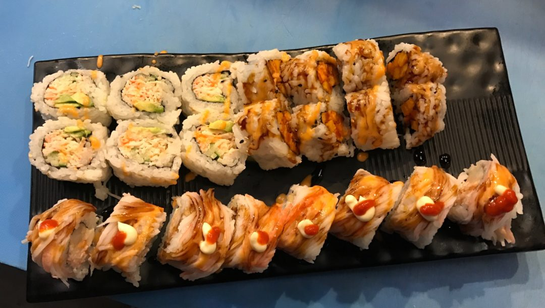 sushi I rolled at Warbora, Japanese restaurant in Boston MA, neversaydiebeauty.com