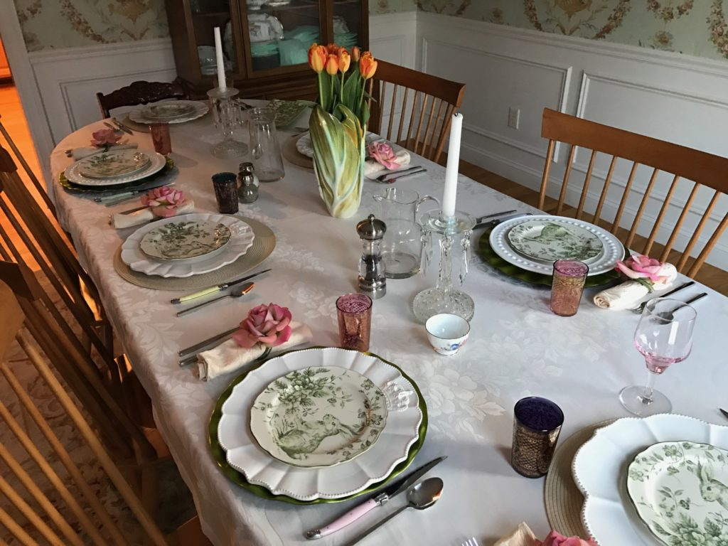 spring table settings, neversaydiebeauty.com