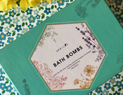 Aprilis Bath Bombs outer packaging, neversaydiebeauty.com