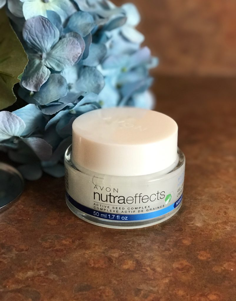 Avon NutraEffects Active Seed Complex Hydration Gel Night Cream, neversaydiebeauty.com
