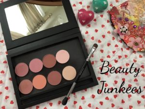 new Beauty Junkees blush and highlighter singles in their magnetized palette, neversaydiebeauty.com