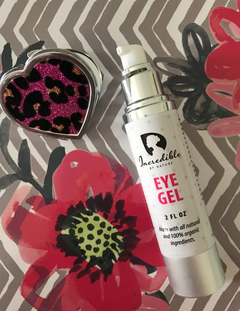 Incredible By Nature Eye Gel pump bottle, neversaydiebeauty.com