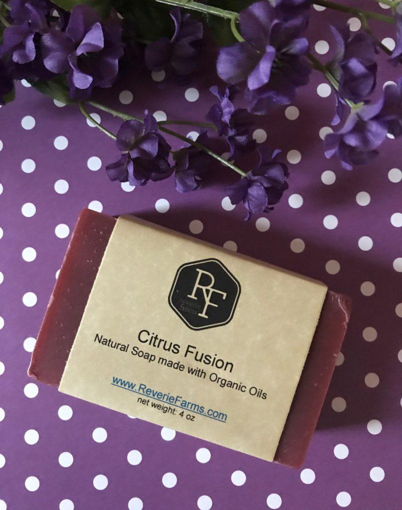 Reverie Farms Citrus Fusion bar soap, neversaydiebeauty.com
