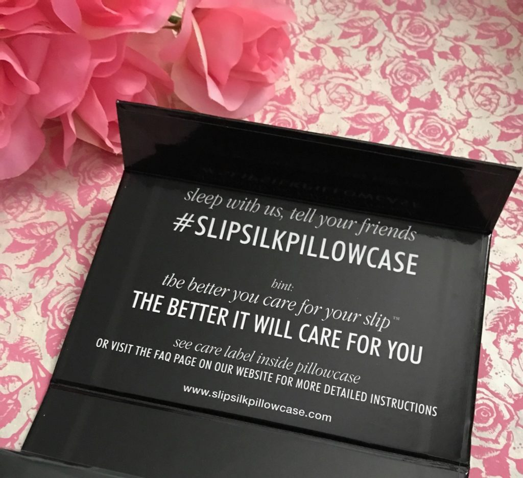 inside of the slip pure pillowcase box