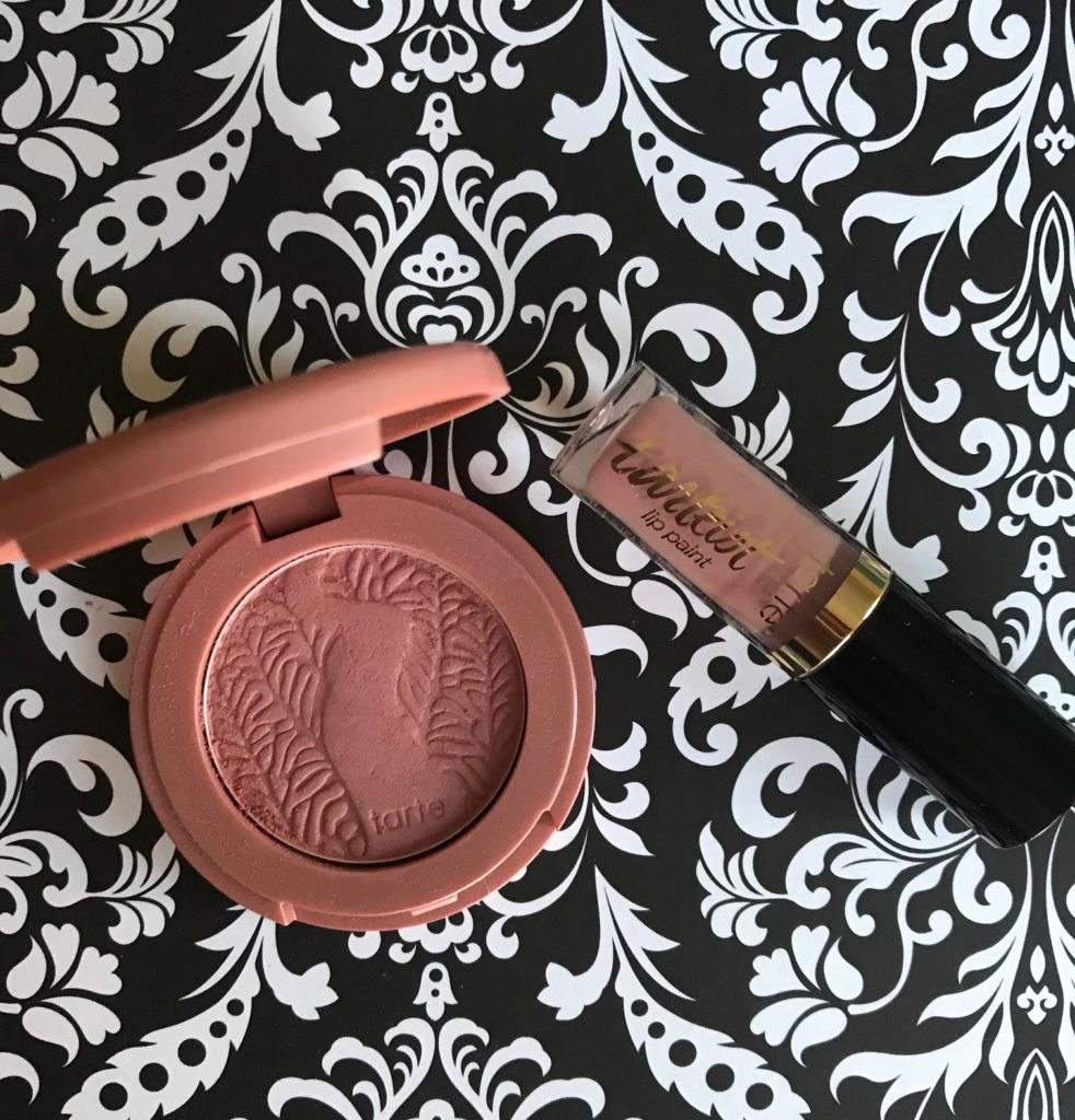 Tarte mini blush (shade paaarty) & Lip Paint, shade birthday suit, neversaydiebeauty.com