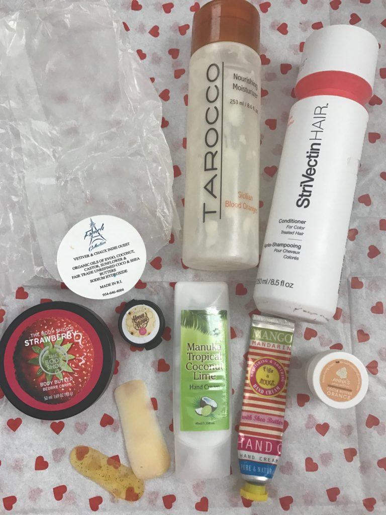 body care and hair care empties for March 2017, neversaydiebeauty.com