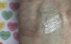 swatch of Wet N Wild Megaglo Makeup Stick Highlighter, neversaydiebeauty.com