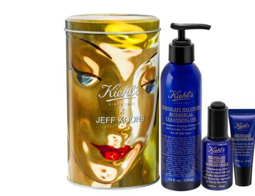 Jeff Koons-designed cosmetic tin and Kiehls Midnight Recovery skincare range, neversaydiebeauty.com