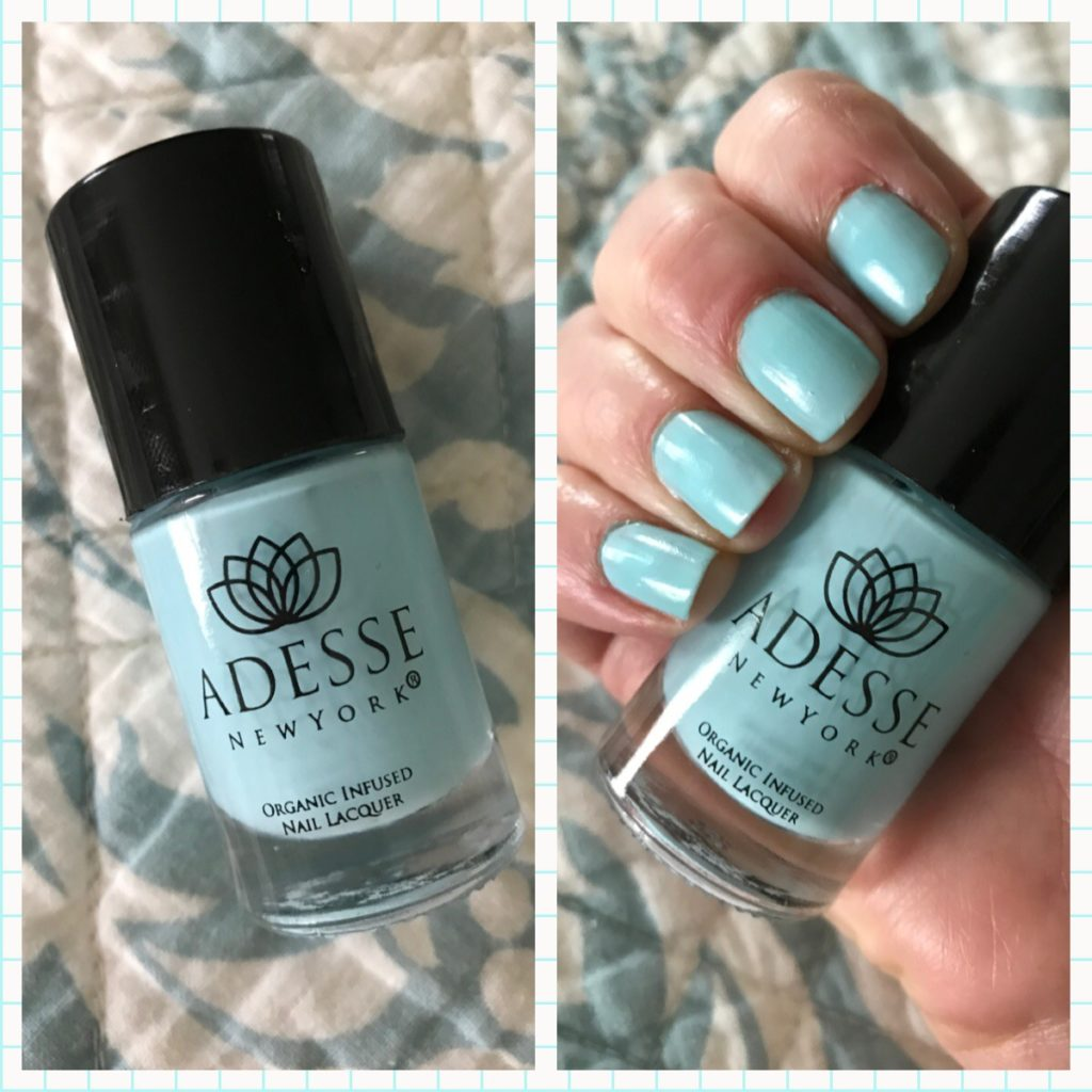 Adesse New York Surfer Girl organic nail lacquer collage, neversaydiebeauty.com