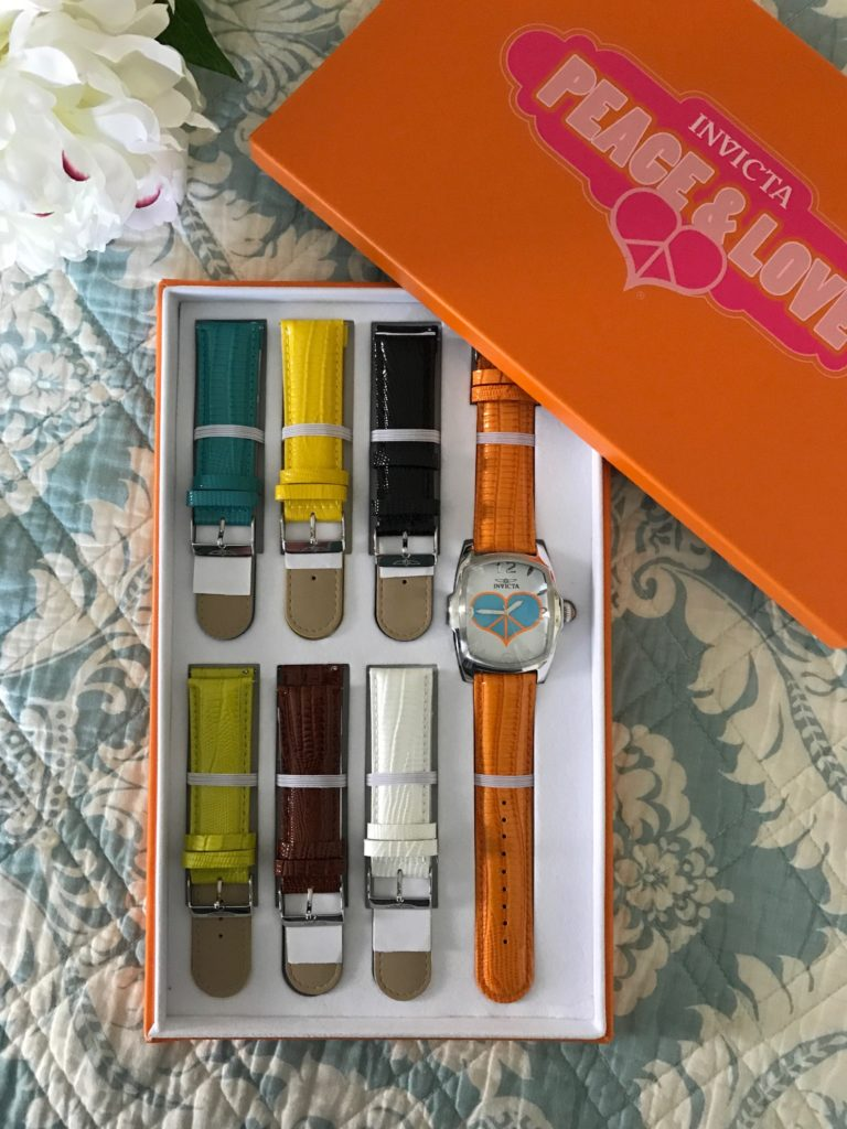 Invicta Lupah Watch w 7 changeable watch straps in presentation box, neversaydiebeauty.com