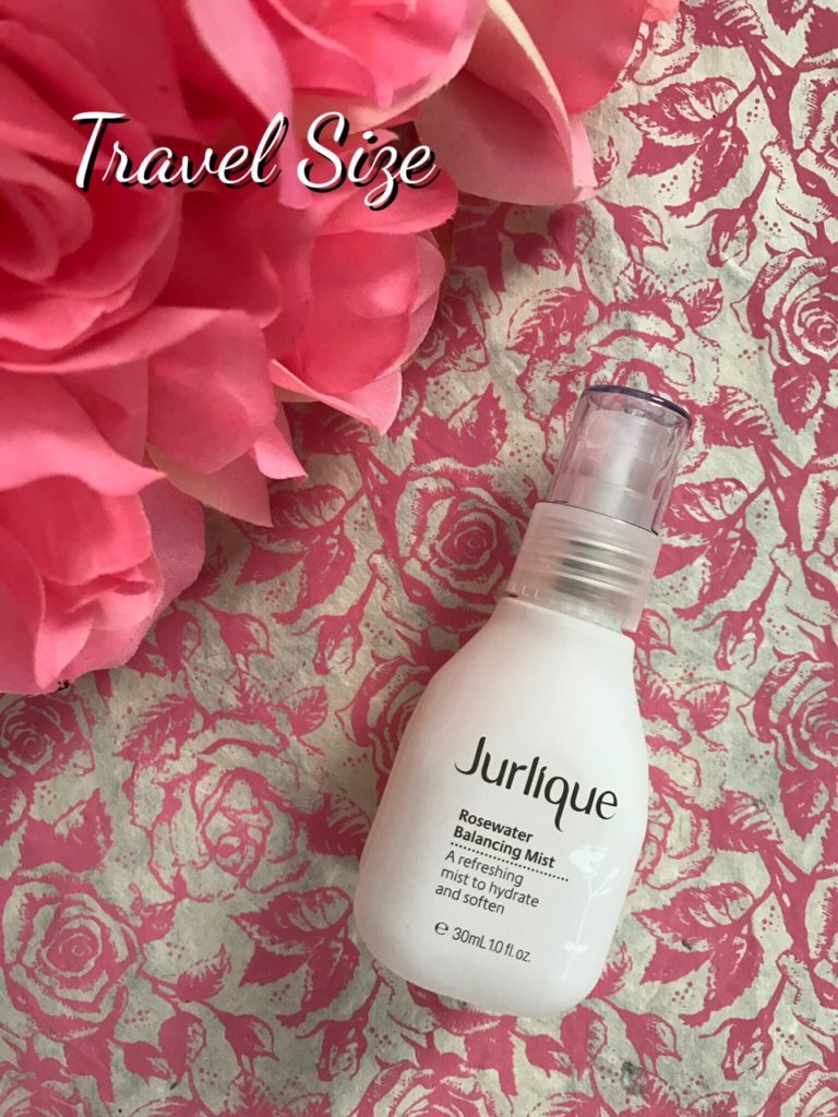 Jurlique travel size Rosewater Balancing Mist bottle, neversaydiebeauty.com