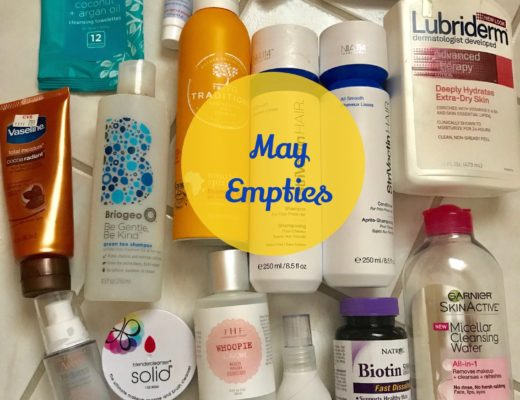 empty beauty products, May 2017, neversaydiebeauty.com