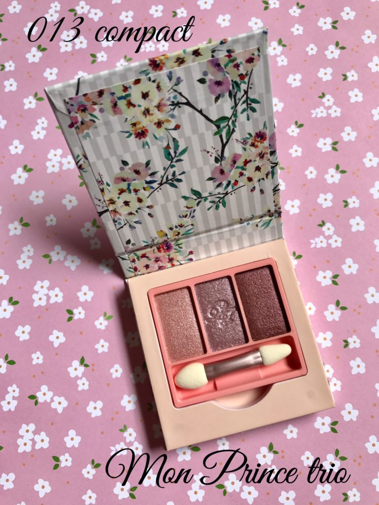 Paul & Joe Mon Prince Eye Color Trio in 013 floral compact, neversaydiebeauty.com