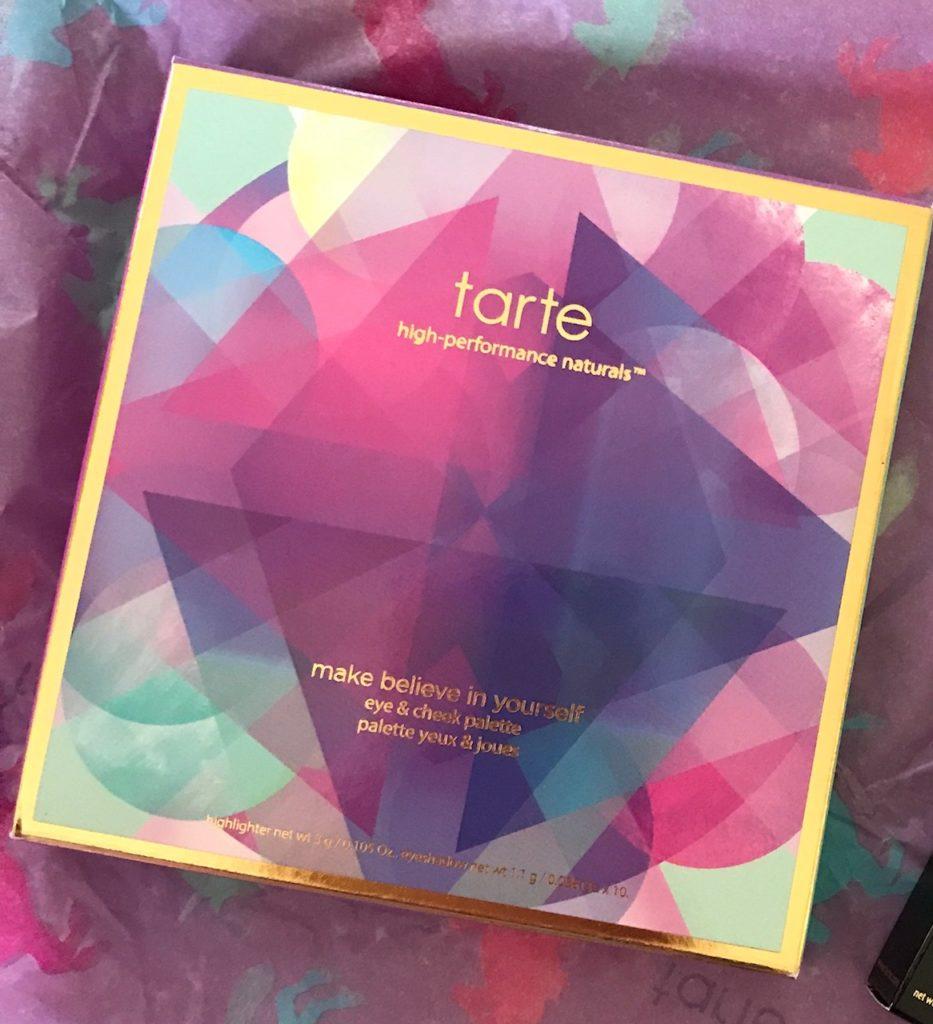 Tarte Make Believe In Yourself palette box, neversaydiebeauty.com