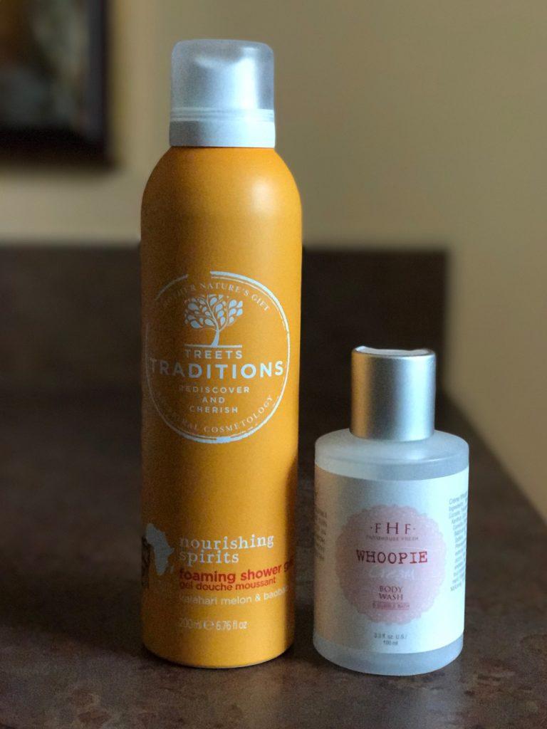 empty body wash bottles: Treet Traditions Foaming Shower Gel & Farmhouse Fresh Whoopie Cream Body Wash, neversaydiebeauty.com