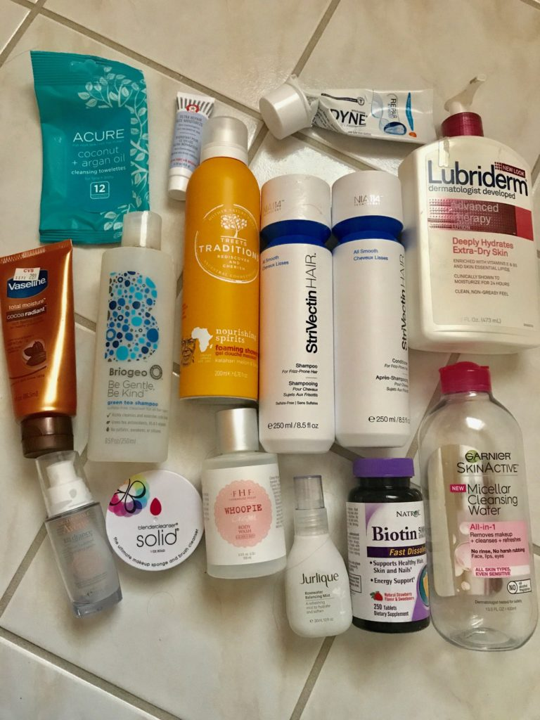 empty beauty products May 2017