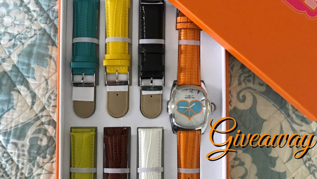 Invicta Lupah Watch w 7 watch straps giveaway, neversaydiebeauty.com