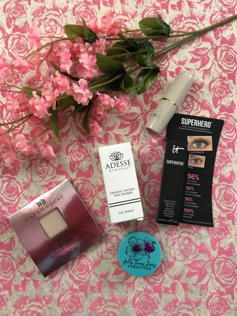 cosmetic items from my Ipsy May 2017 Summer Friday Glam Bag, neversaydiebeauty.com