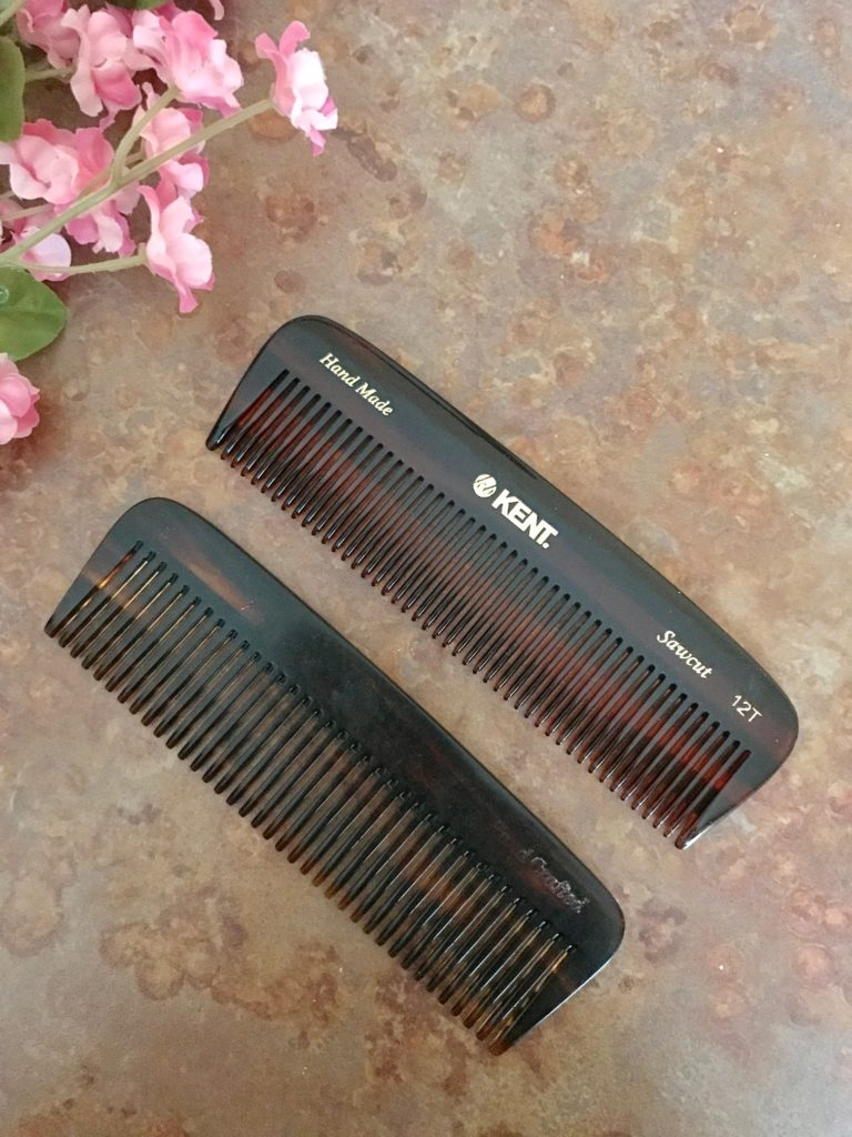new and old Kent of London 12T pocket combs for thick/coarse hair, neversaydiebeauty.com