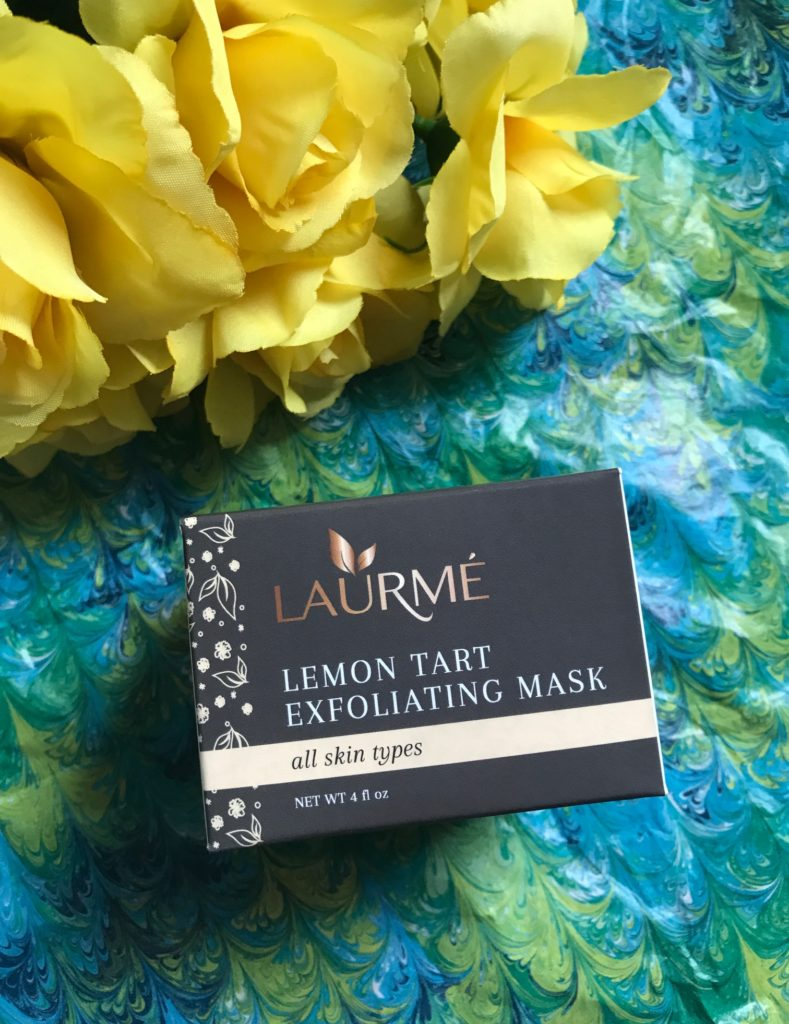 Laurme Lemon Tart Exfoliating Mask box, neversaydiebeauty.com
