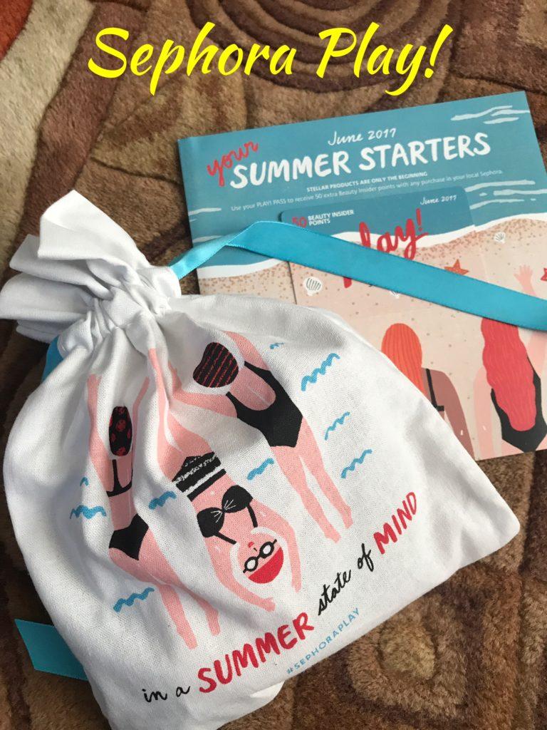 Sephora Play Summer Starters June 2017, neversaydiebeauty.com