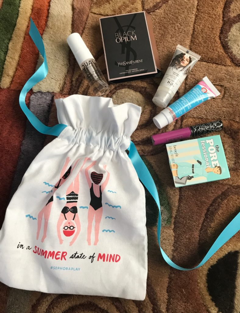 "Sephora Play ""Summer Starters"" bag and contents, neversaydiebeauty.com"