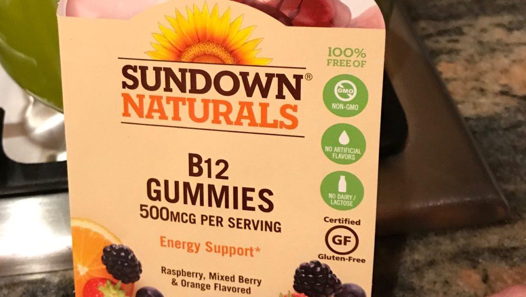 Sundown Naturals vitamin B12 dummies sample, neversaydiebeauty.com