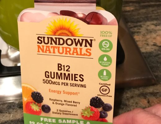 Sundown Naturals vitamin B12 dummies sample, neversaydiebeauty.com