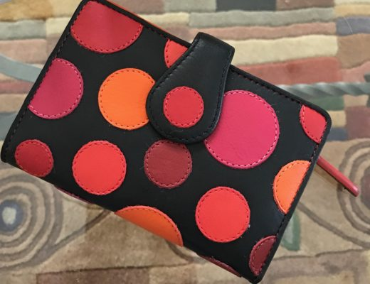 Visconti Saturn polka dot wallet, neversaydiebeauty.com