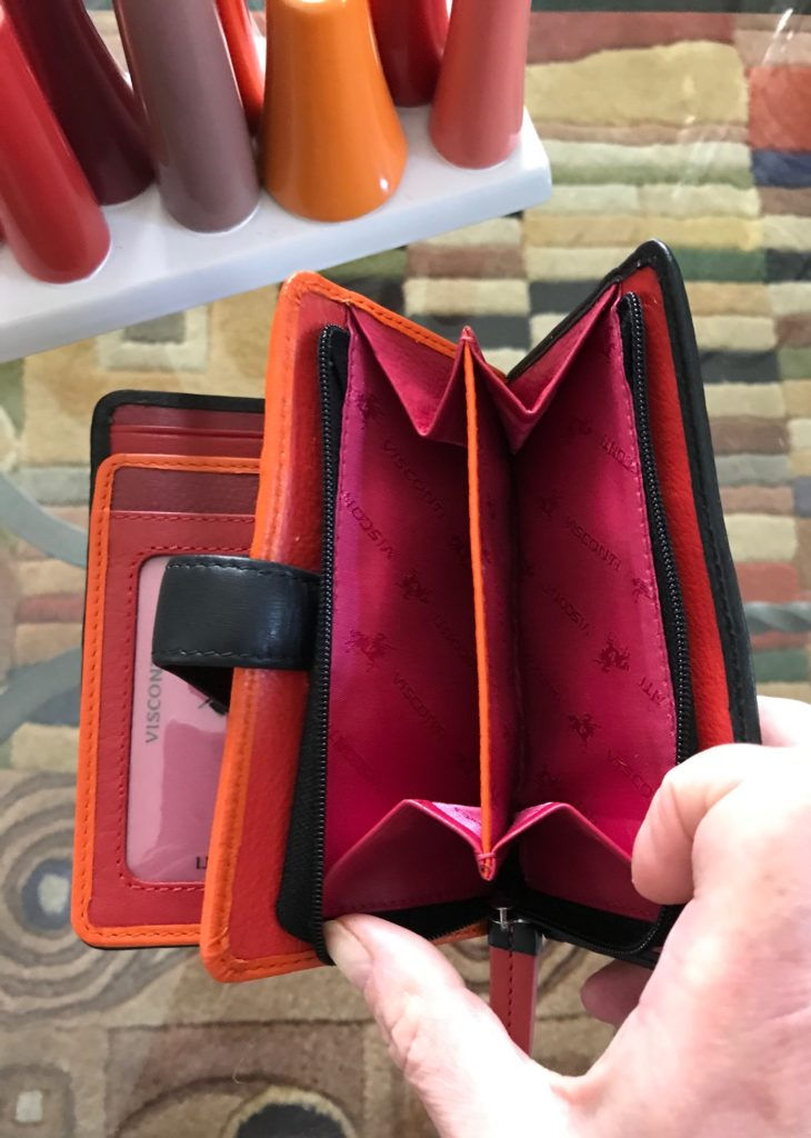 Visconti Pluto wallet zippered double chamber coin purse, neversaydiebeauty.com