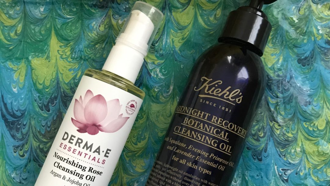 DERMA E Nourishing Rose Cleansing Oil & Kiehls Midnight Recovery Botanical Cleansing Oil, neversaydiebeauty.com