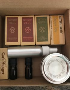 Simply Earth recipe box including essential oils & accessories, neversaydiebeauty.com
