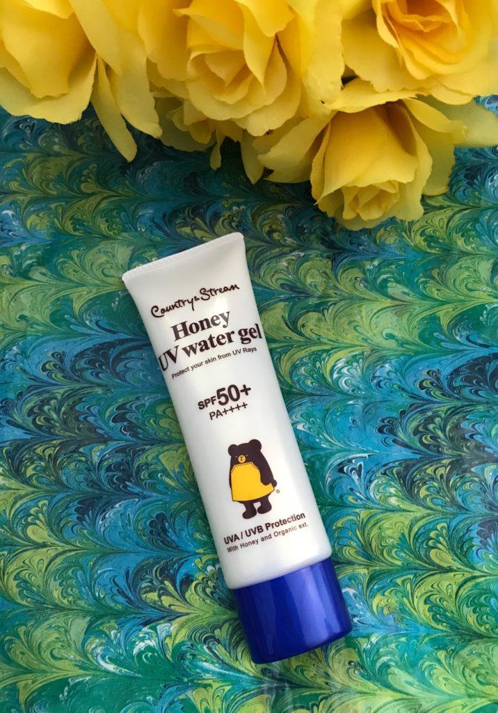 Country & Stream Honey UV Water Gel SPF 50 tube, neversaydiebeauty.com