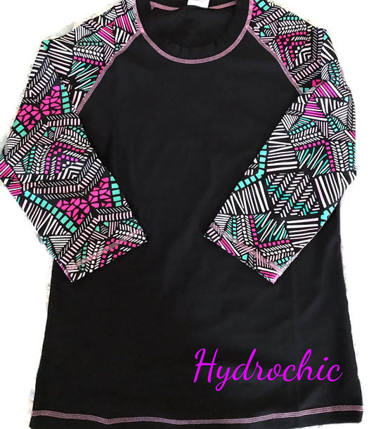Hydrochic Baseball Babe Inspired 3/4 Sleeve UV top, neversaydiebeauty.com