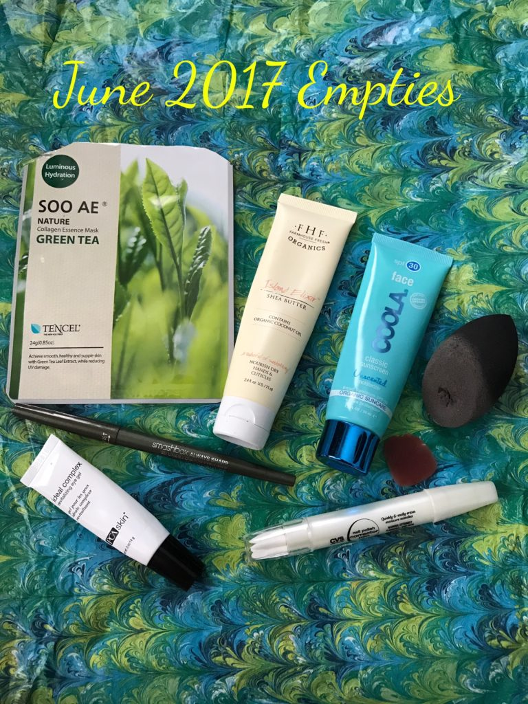 empty beauty products from June 2017, neversaydiebeauty.com