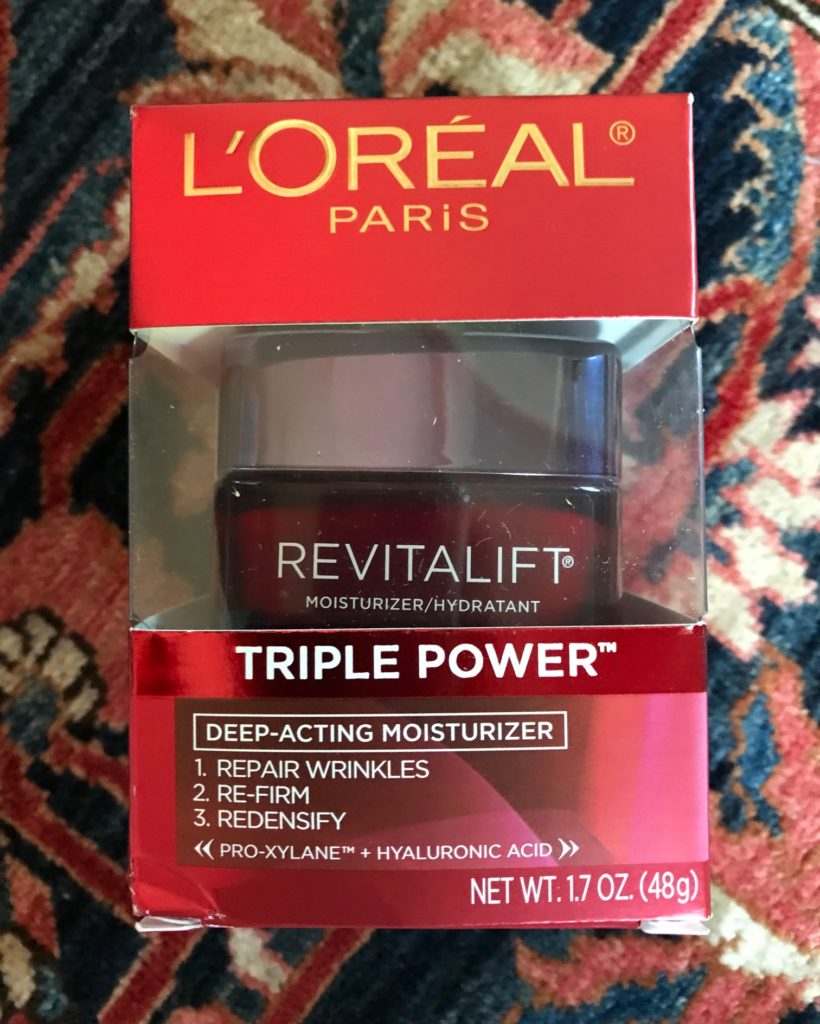 L'Oreal Revitalift Triple Power Deep Action Moisturizer outer packaging, neversaydiebeauty.com