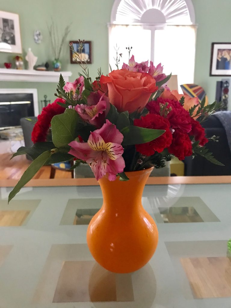 Fancy Orange Rose Flower Bouquet from Sendflowers.com - Day 1, neversaydiebeauty.com