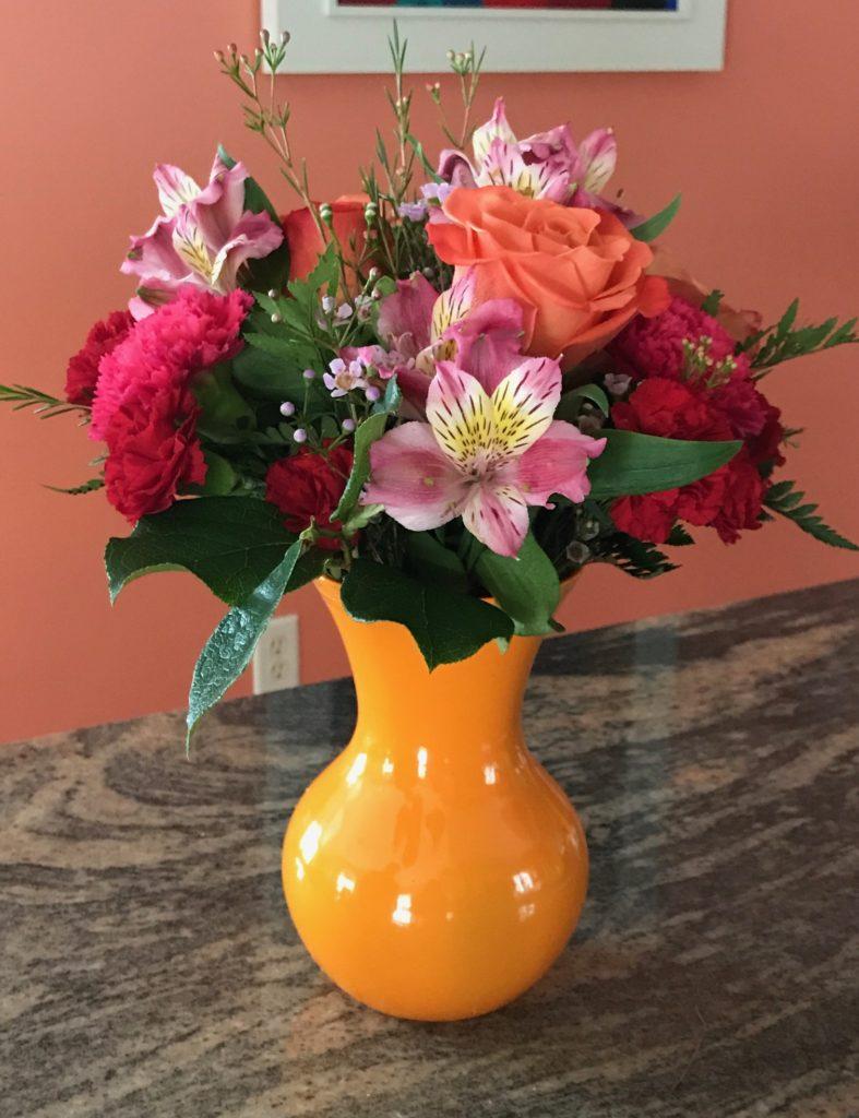 Fancy Orange Rose Flower Bouquet from Sendflowers.com on Day 4, neversaydiebeauty.com
