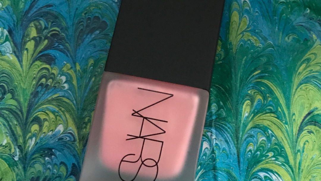 closeup of NARS Liquid Blush in shade Orgasm, neversaydiebeauty.com