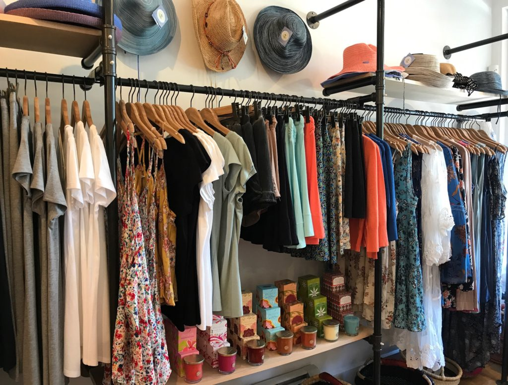 clothing, hats, and candles at Cuddlefish boutique in Manchester MA, neversaydiebeauty.com