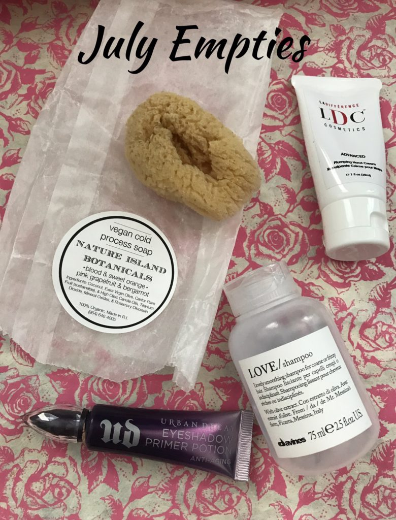 empty beauty products for July 2017