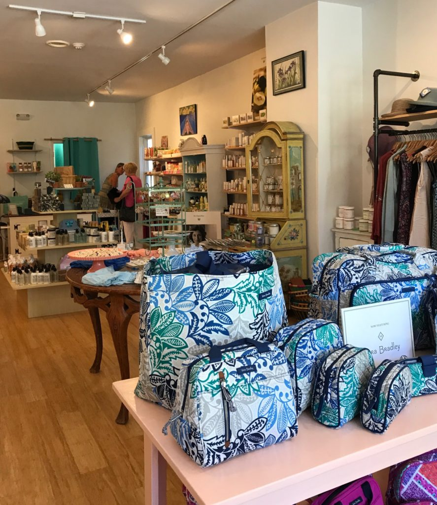 interior of the Cuddlefish boutique in Manchester MA, neversaydiebeauty.com