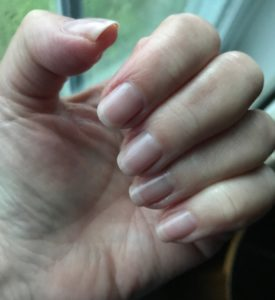 my nails with Zoya Perfector Lavender, neversaydiebeauty.com